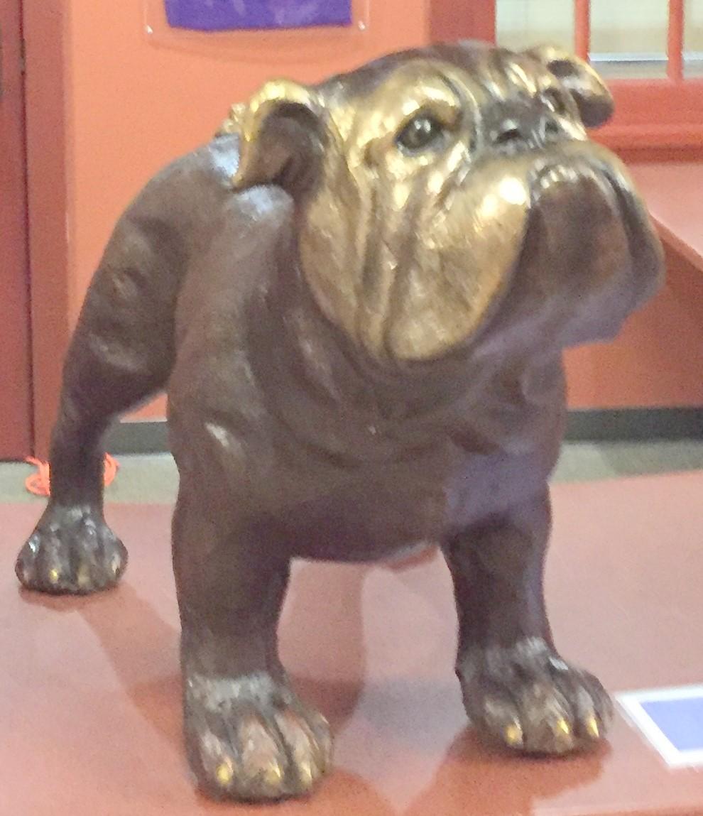 Garfield High School brass bulldog